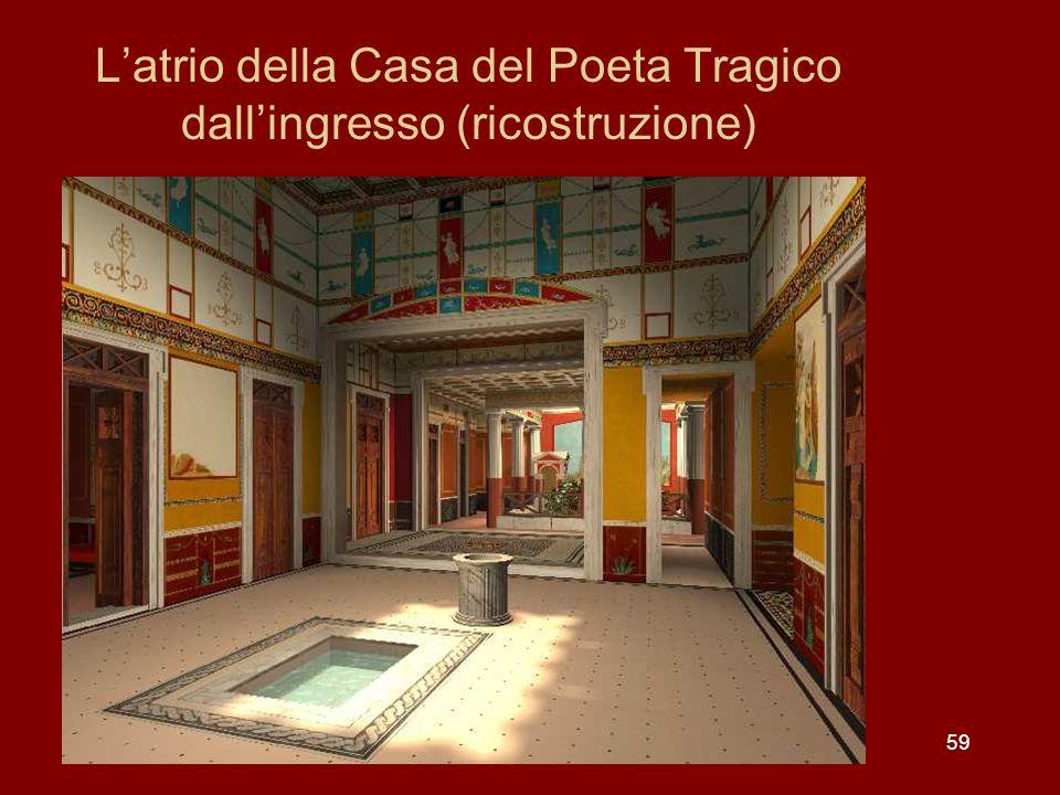 L'atrio della Casa del Poeta Tragico dall'ingresso (ricostruzione)