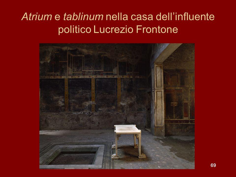 Atrium e tablinum nella casa dell'influente politico Lucrezio Frontone