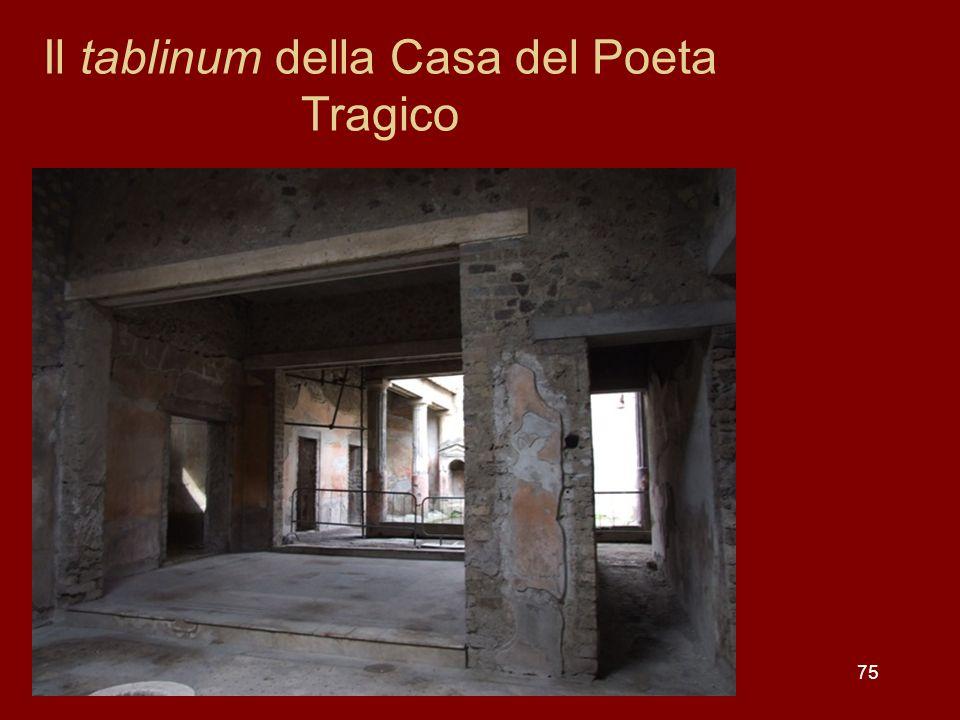 Il tablinum della Casa del Poeta Tragico