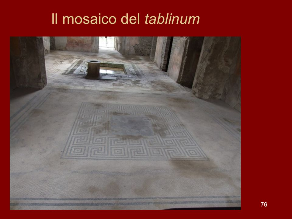 Il mosaico del tablinum