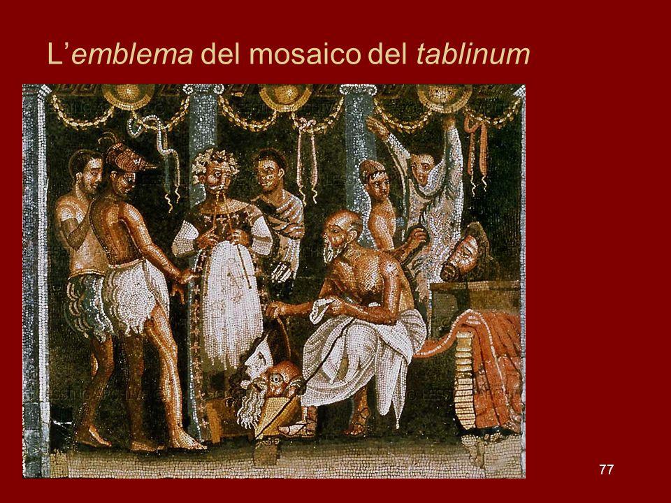 L'emblema del mosaico del tablinum