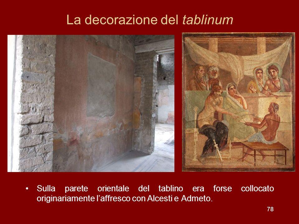 La decorazione del tablinum