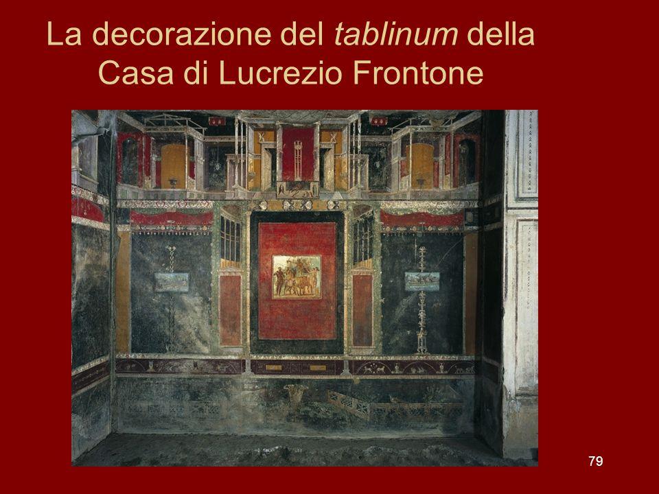La decorazione del tablinum della Casa di Lucrezio Frontone