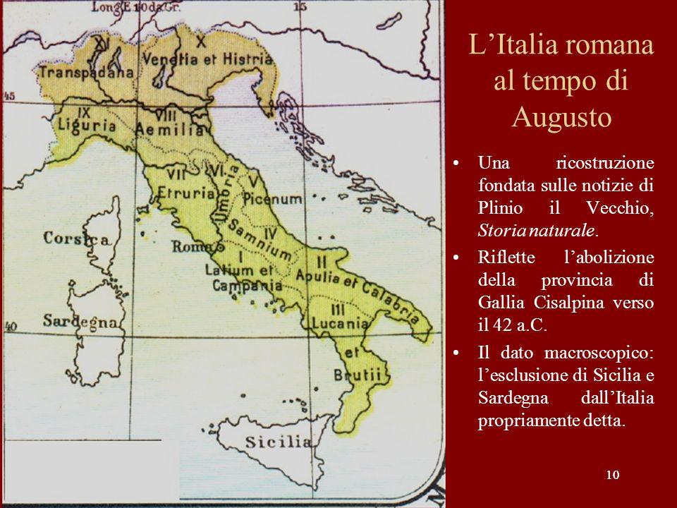 L'Italia romana al tempo di Augusto
