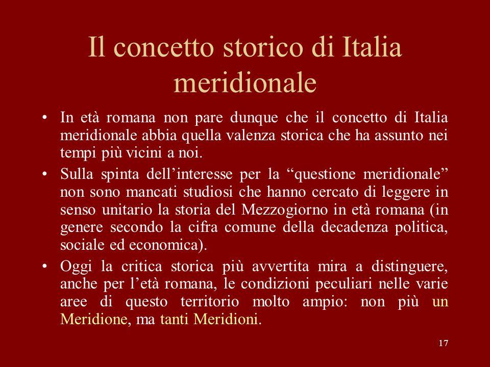 Il concetto storico di Italia meridionale