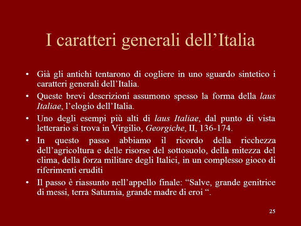 I caratteri generali dell'Italia