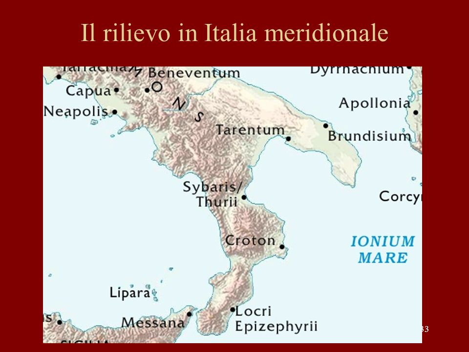 Il rilievo in Italia meridionale