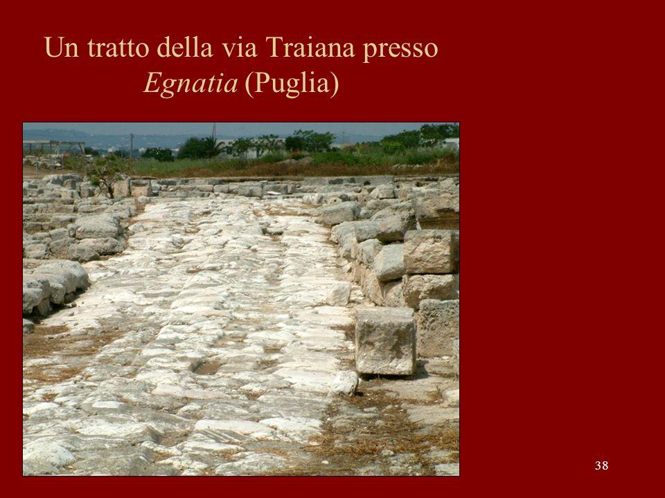 Un tratto della via Traiana presso Egnatia (Puglia)