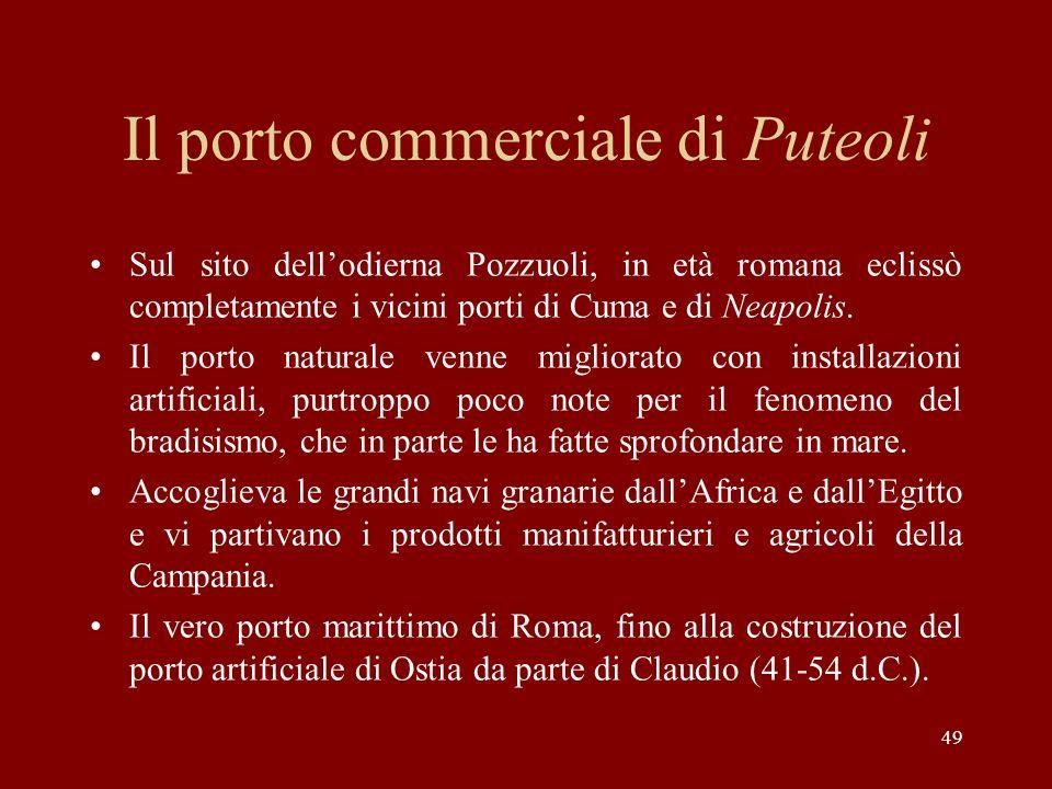 Il porto commerciale di Puteoli