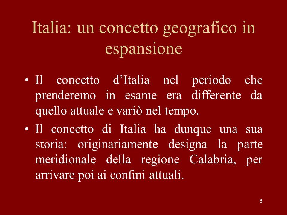 Italia: un concetto geografico in espansione