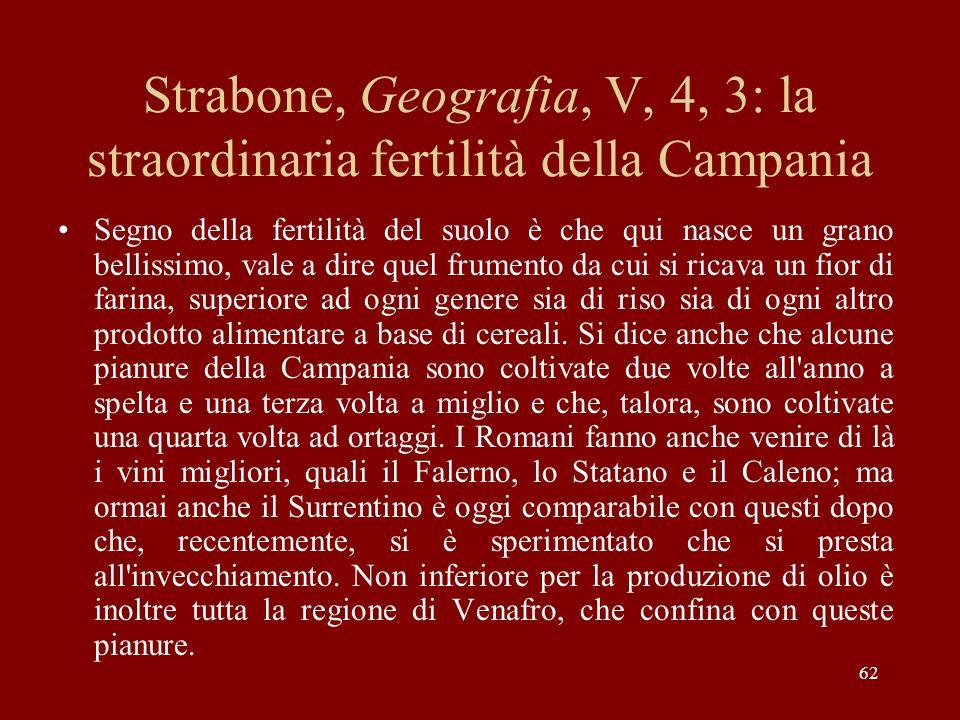 Strabone, Geografia, V, 4, 3: la straordinaria fertilità della Campania