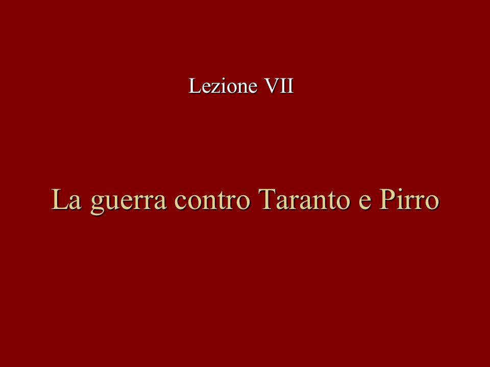 La guerra contro Taranto e Pirro