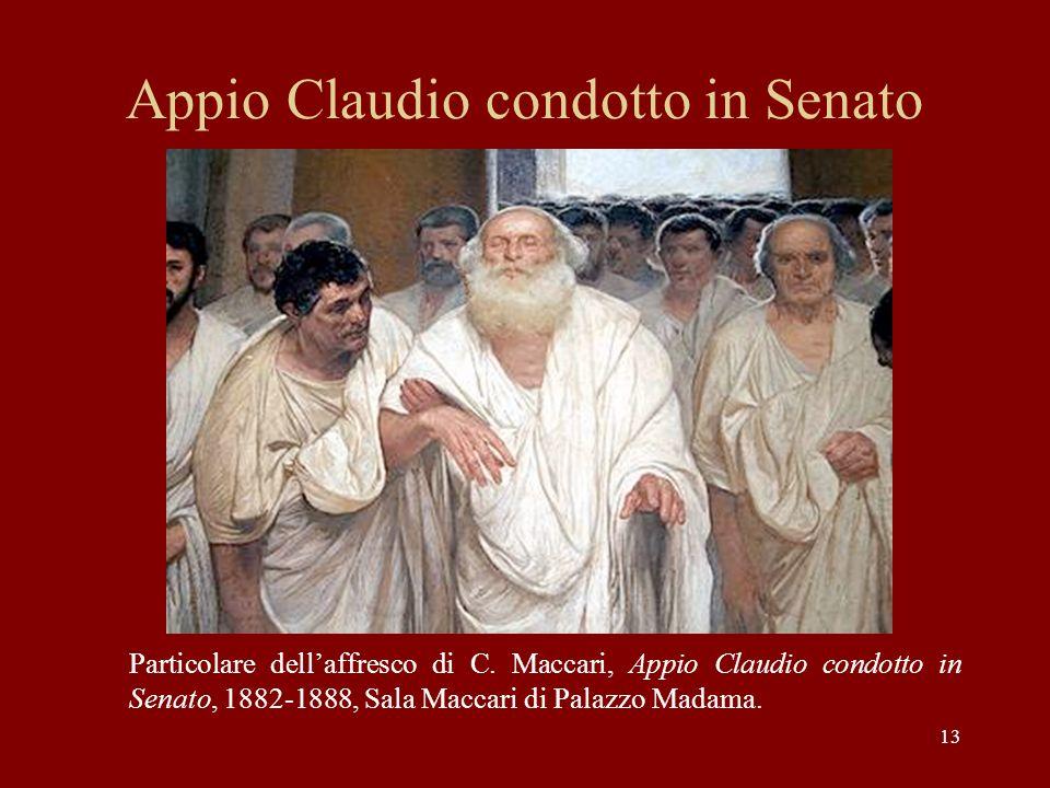 Appio Claudio condotto in Senato