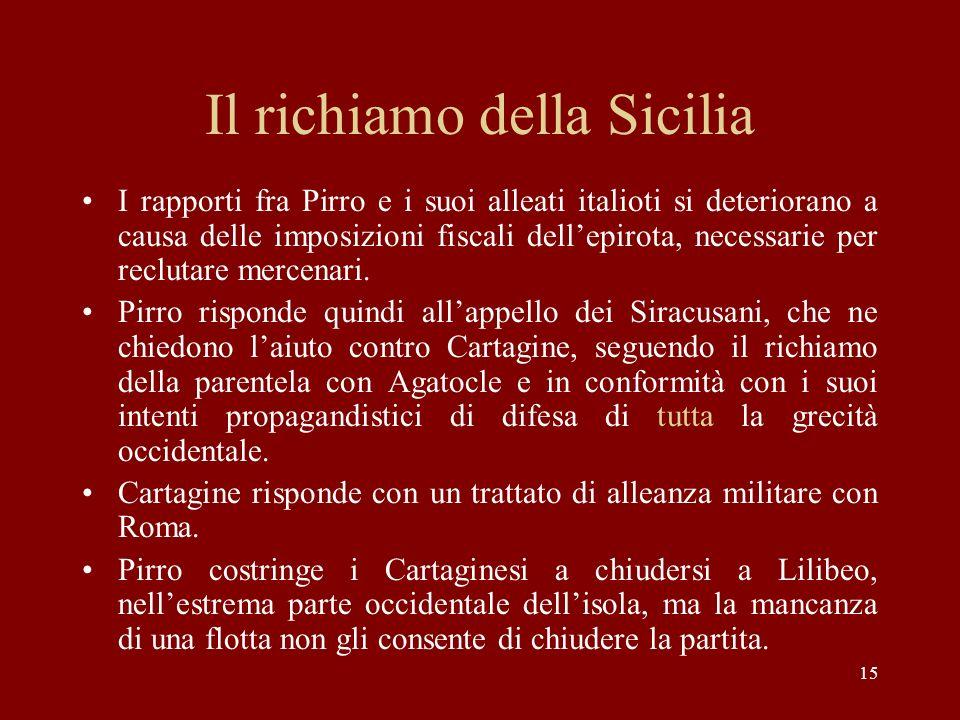 Il richiamo della Sicilia