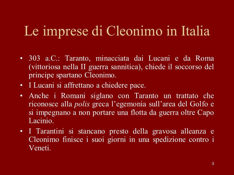 Le imprese di Cleonimo in Italia