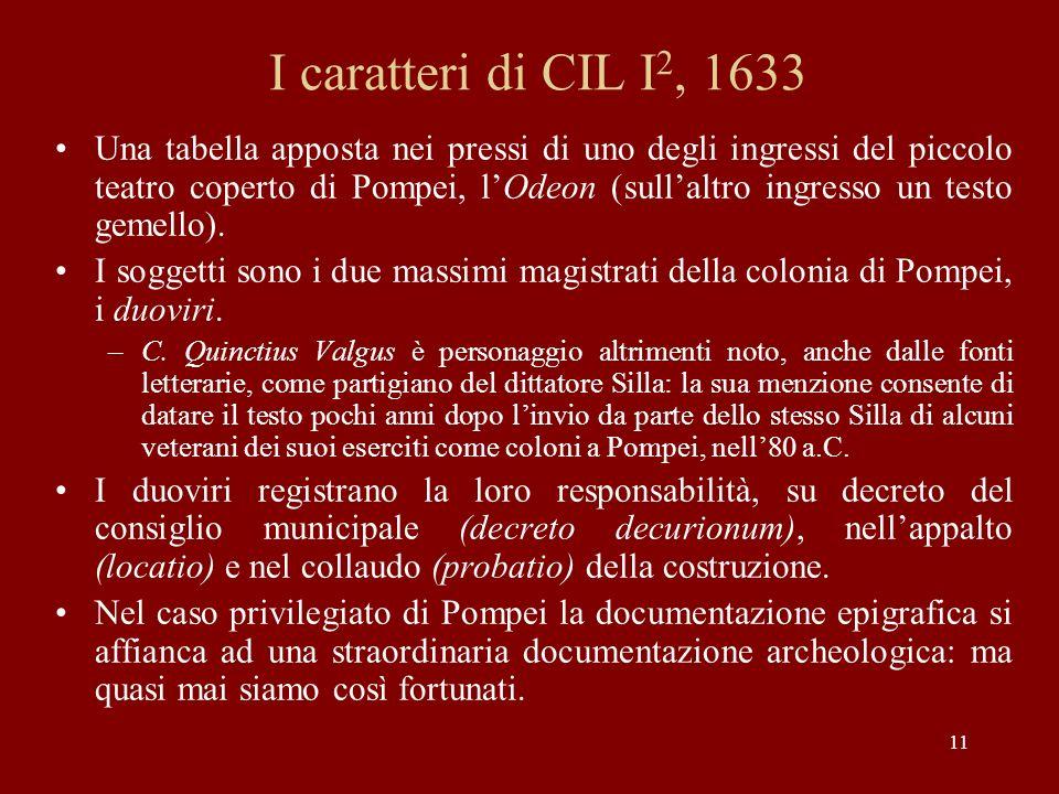 I caratteri di CIL I2, 1633