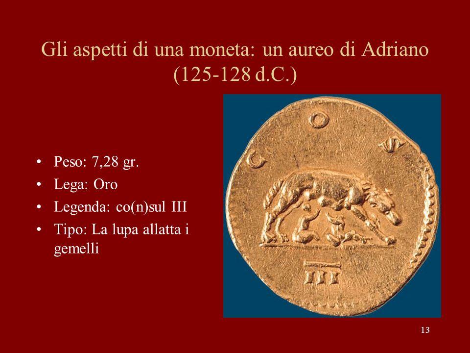 Gli aspetti di una moneta: un aureo di Adriano (125-128 d.C.)