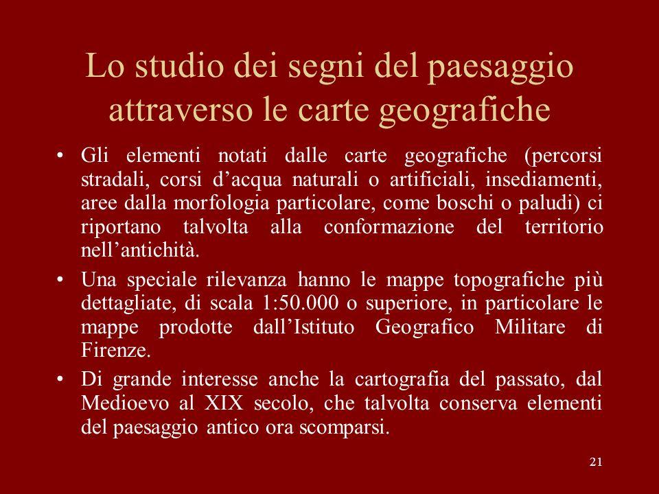 Lo studio dei segni del paesaggio attraverso le carte geografiche