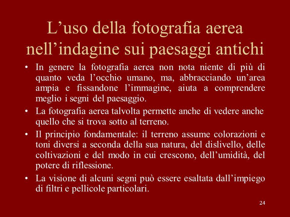 L'uso della fotografia aerea nell'indagine sui paesaggi antichi