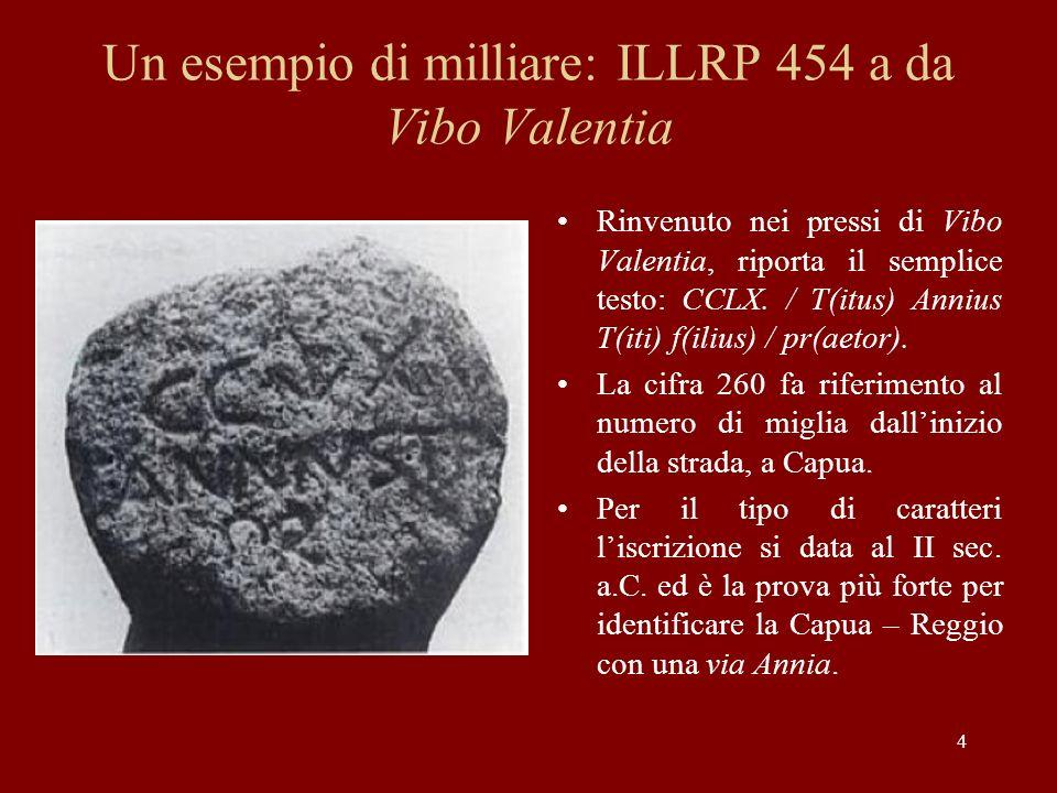 Un esempio di milliare: ILLRP 454 a da Vibo Valentia