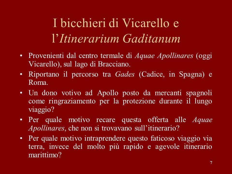 I bicchieri di Vicarello e l'Itinerarium Gaditanum
