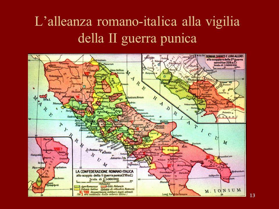 L'alleanza romano-italica alla vigilia della II guerra punica