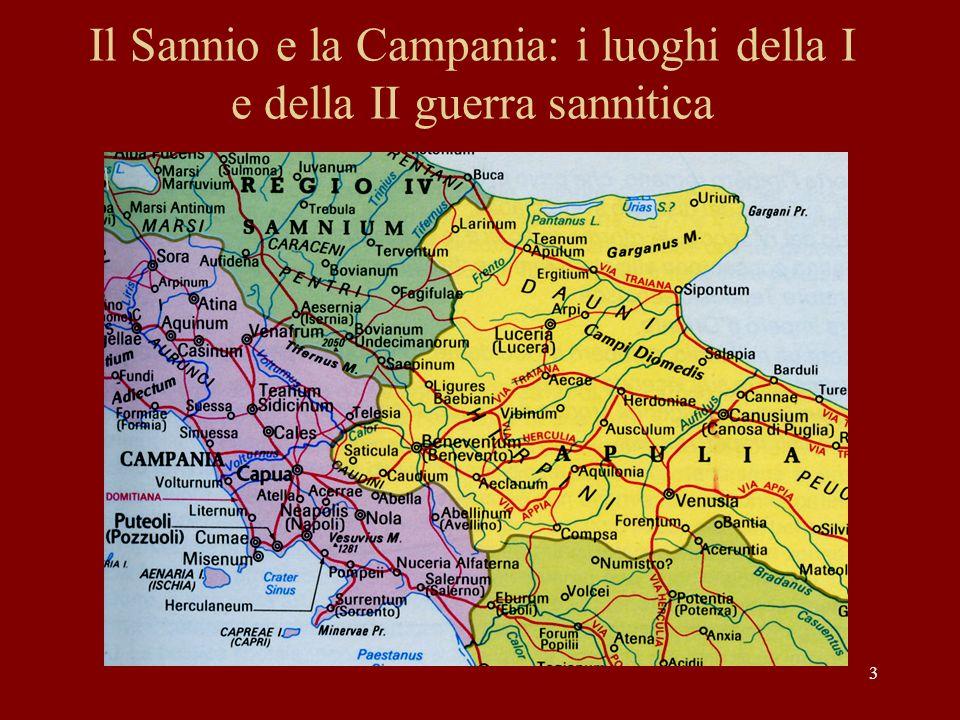 Il Sannio e la Campania: i luoghi della I e della II guerra sannitica
