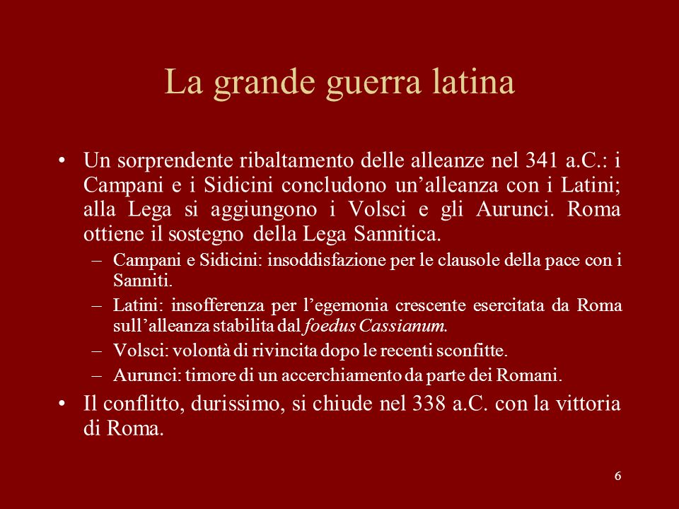 La grande guerra latina