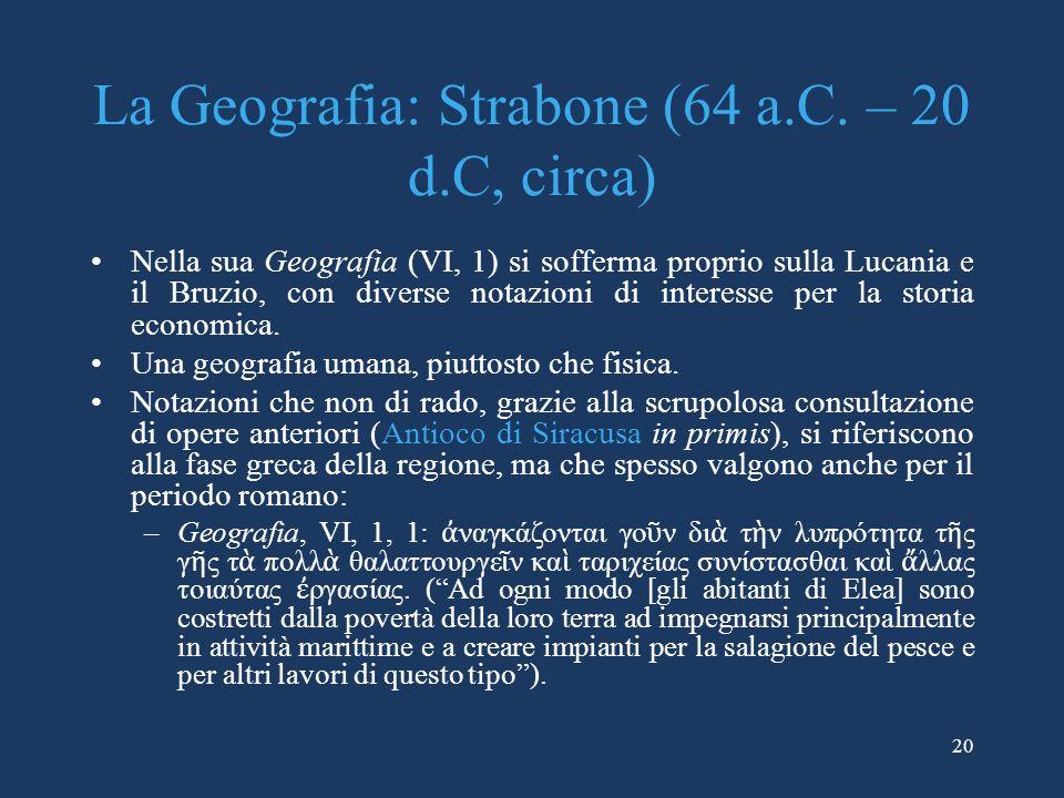 La Geografia: Strabone (64 a.C. – 20 d.C, circa)