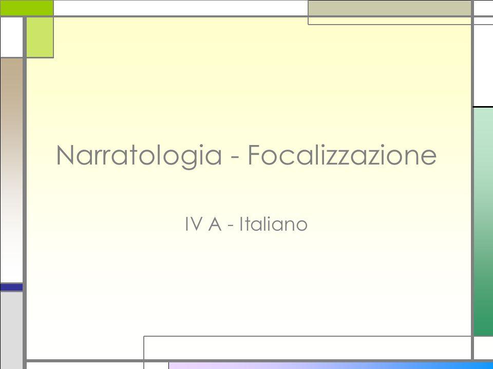 Narratologia - Focalizzazione
