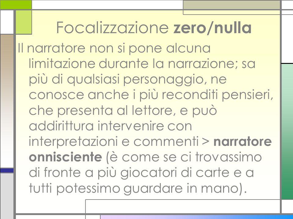 Focalizzazione zero/nulla