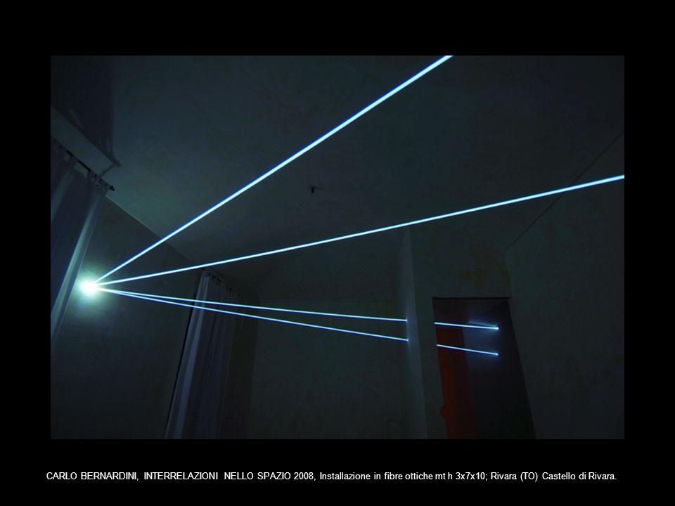 CARLO BERNARDINI, INTERRELAZIONI NELLO SPAZIO 2008, Installazione in fibre ottiche mt h 3x7x10; Rivara (TO) Castello di Rivara.