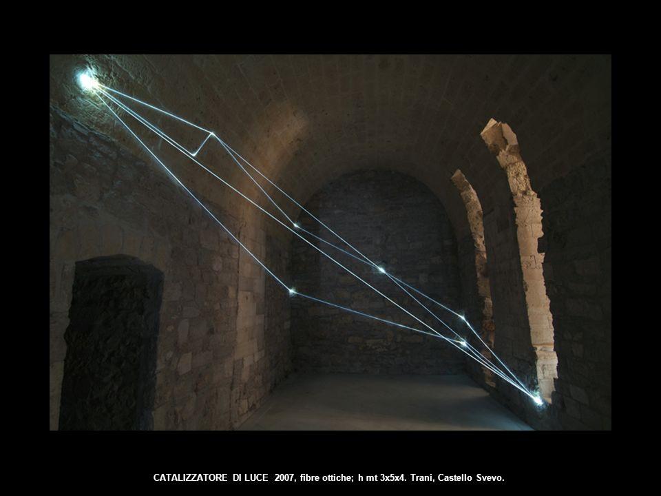 CATALIZZATORE DI LUCE 2007, fibre ottiche; h mt 3x5x4