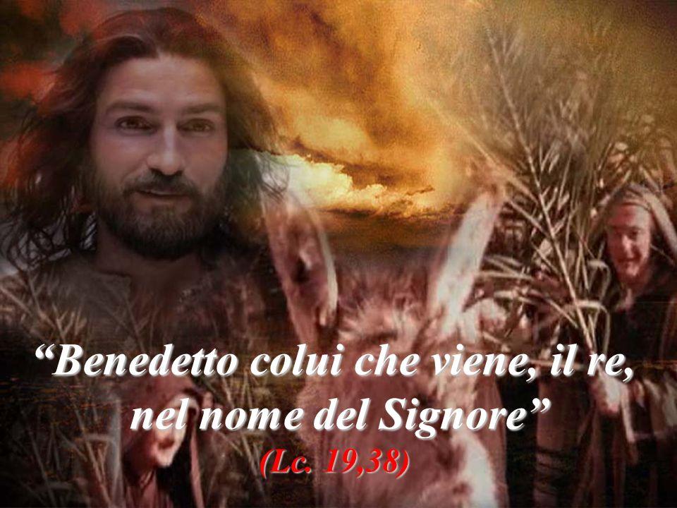 Benedetto colui che viene, il re,