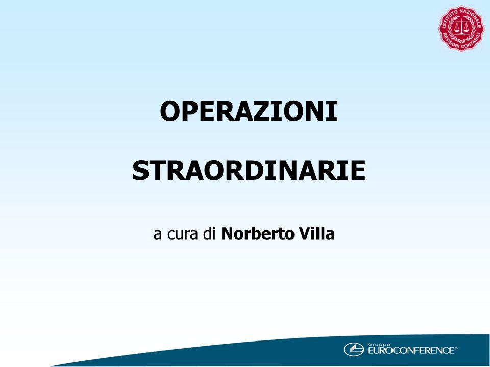 OPERAZIONI STRAORDINARIE