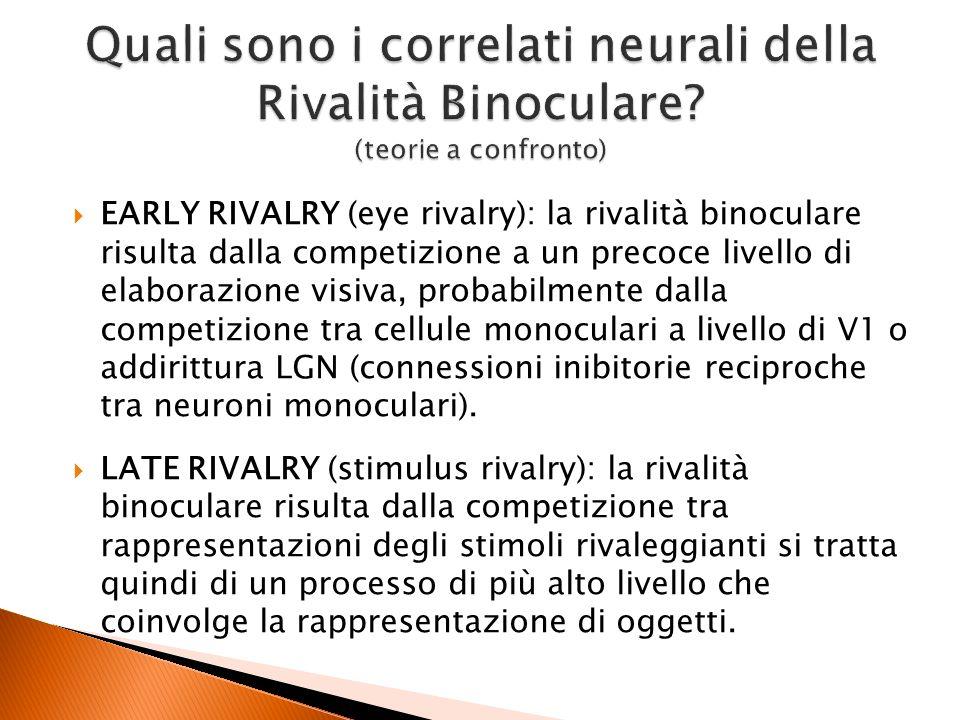 Quali sono i correlati neurali della Rivalità Binoculare