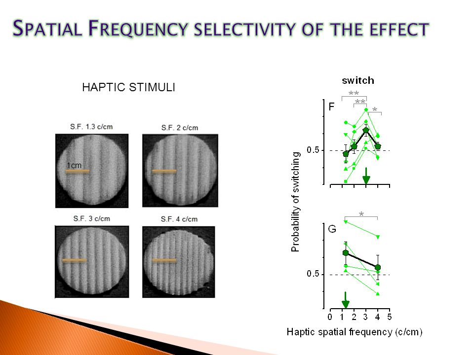 Spatial Frequency selectivity of the effect