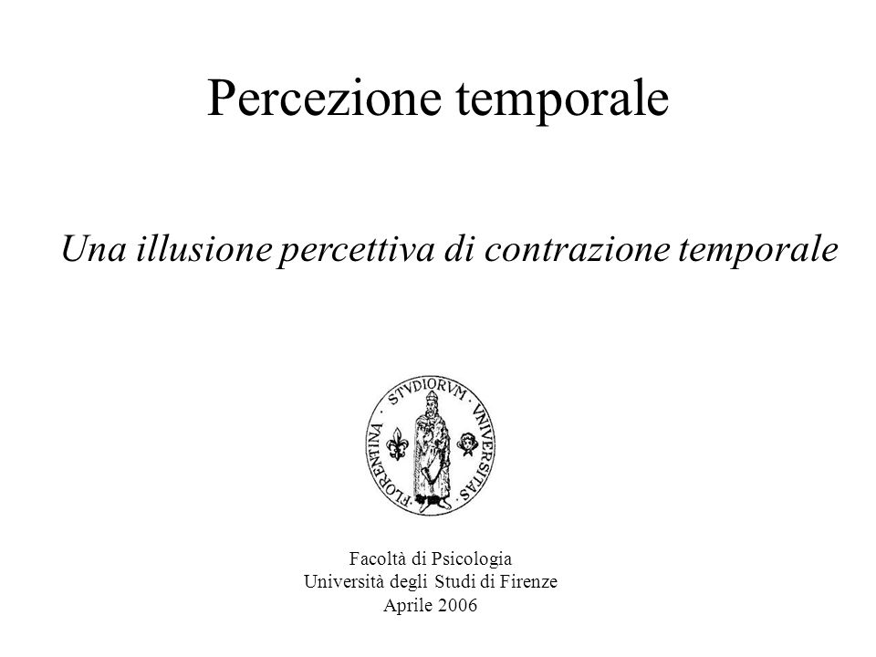 Percezione temporale Una illusione percettiva di contrazione temporale