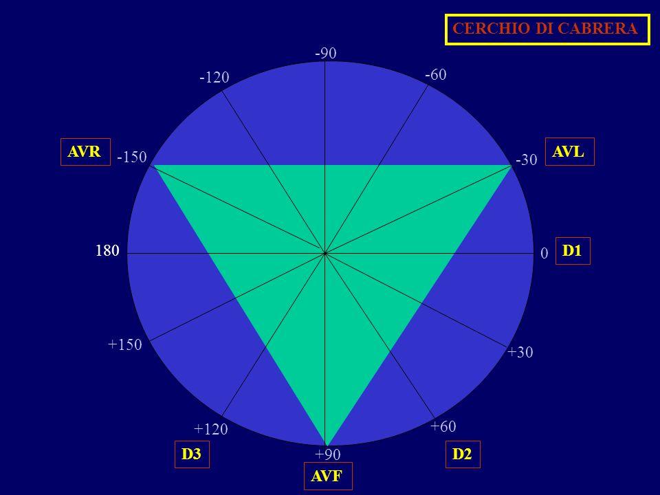 . CERCHIO DI CABRERA -90 -120 -60 AVR AVL -150 -30 180 D1 +150 +30