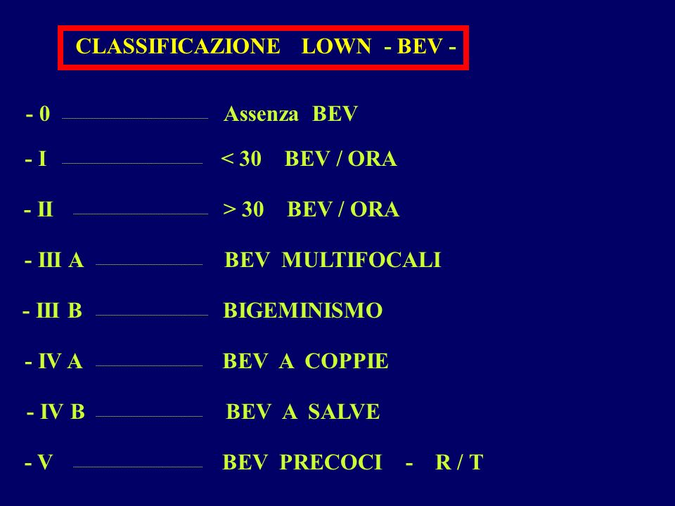 CLASSIFICAZIONE LOWN - BEV -
