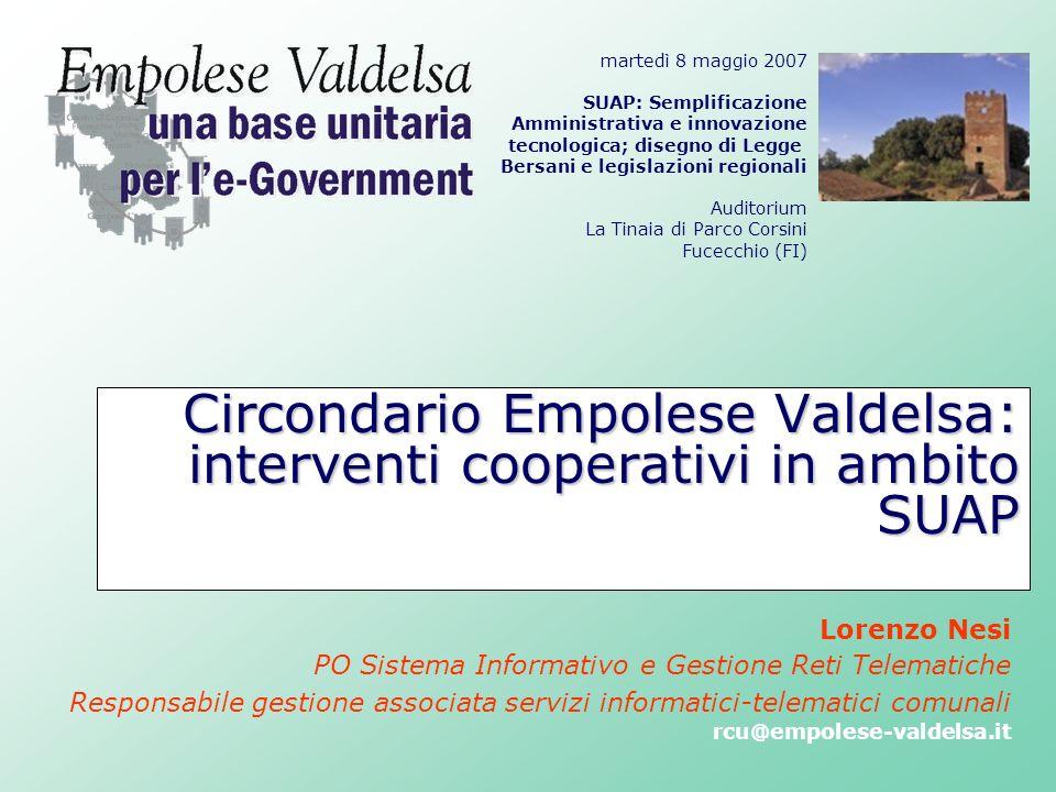 Circondario Empolese Valdelsa: interventi cooperativi in ambito SUAP