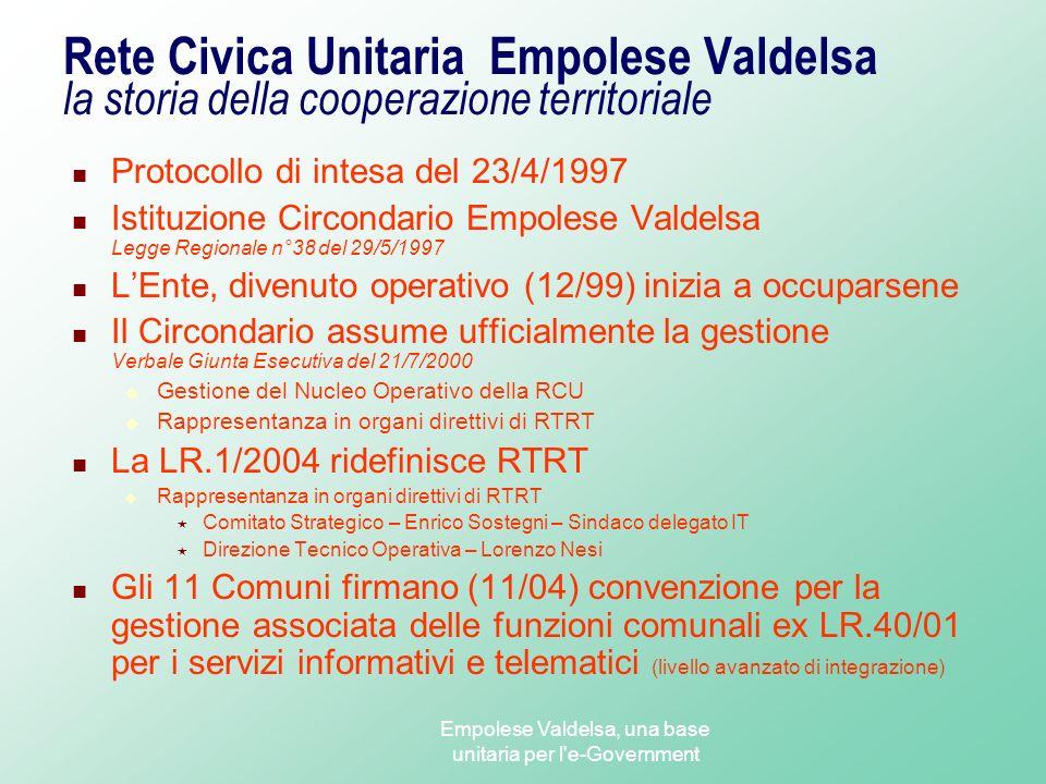 Empolese Valdelsa, una base unitaria per l e-Government