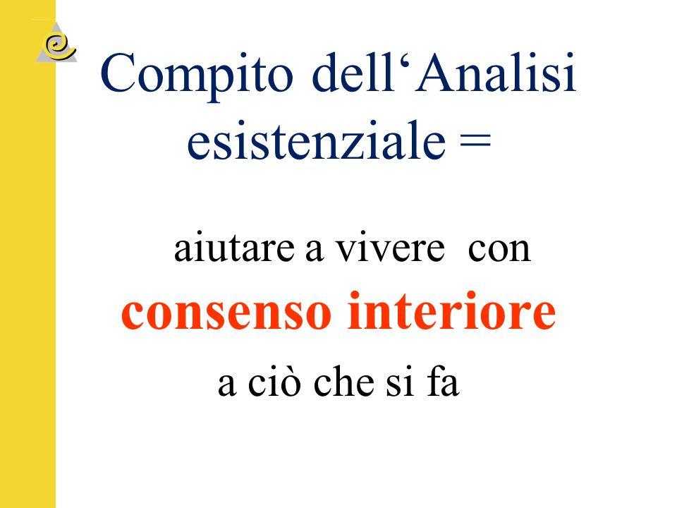 Compito dell'Analisi esistenziale =