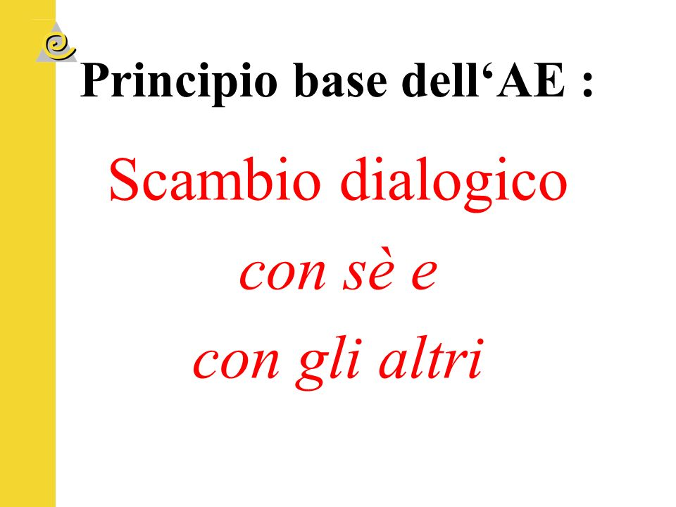 Principio base dell'AE :