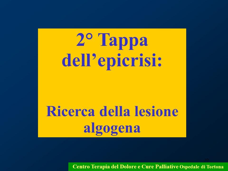2° Tappa dell'epicrisi: