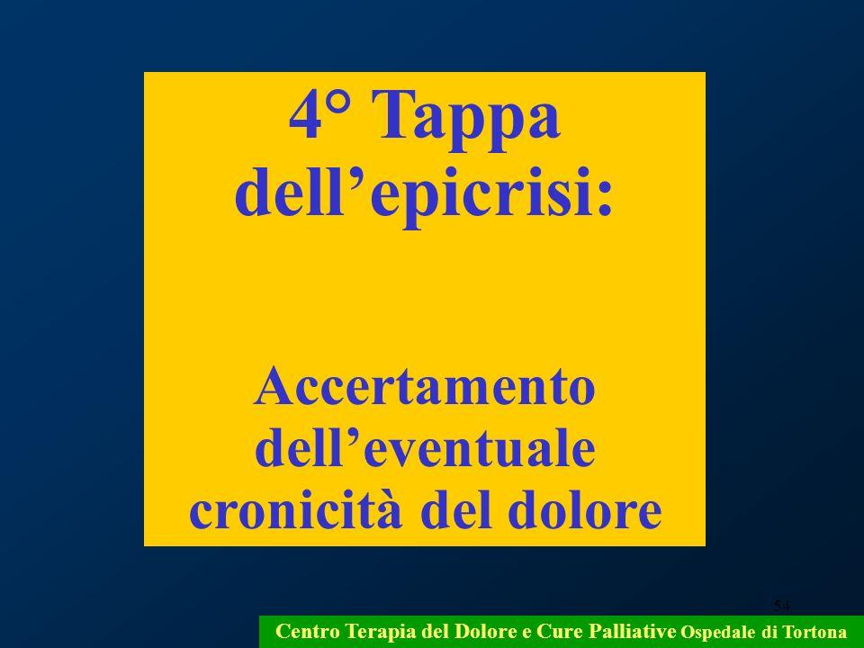 4° Tappa dell'epicrisi: