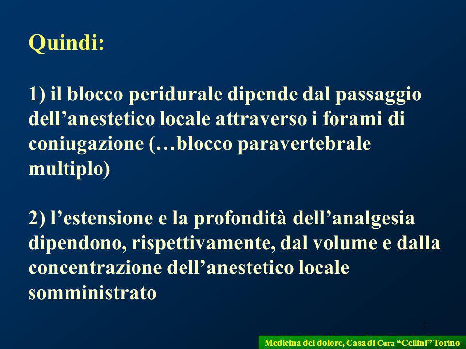 Medicina del dolore, Casa di Cura Cellini Torino