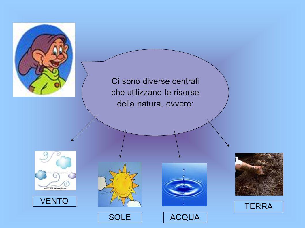 Ci sono diverse centrali che utilizzano le risorse della natura, ovvero: