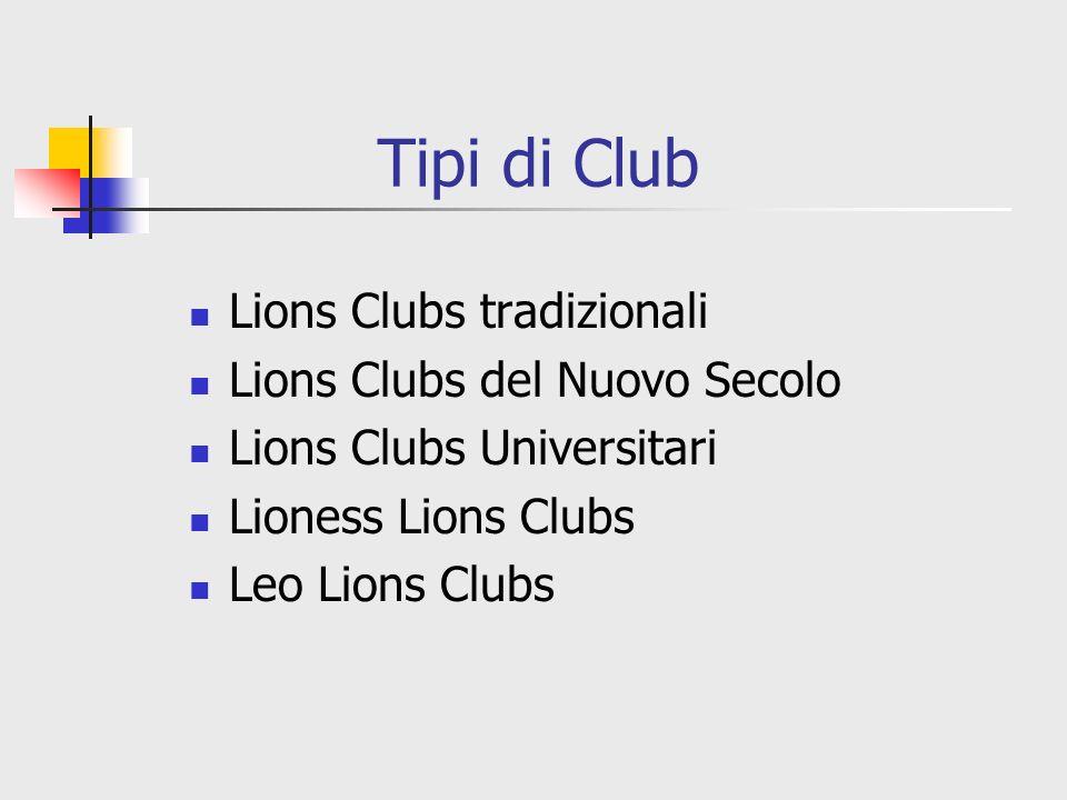 Tipi di Club Lions Clubs tradizionali Lions Clubs del Nuovo Secolo