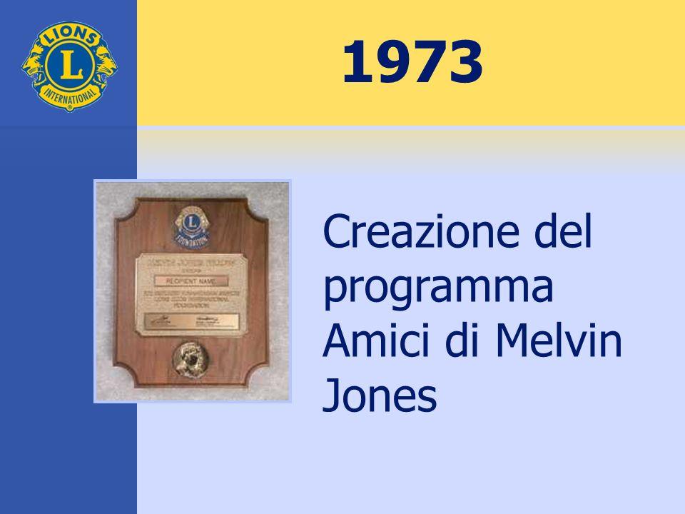 1973 Creazione del programma Amici di Melvin Jones